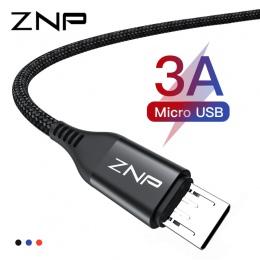 ZNP kabel Micro USB 3A szybkie ładowanie Micro USB przewód ładowarki do Samsung Xiaomi Redmi Note 5 Pro Honor tabletu z systemem