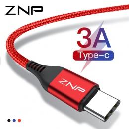 ZNP 3A USB typu C kabel do Xiaomi Redmi Note 7 USB-C szybkie ładowanie telefonu komórkowego typu C kabel do Samsung galaxy S9 S8