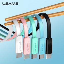USAMS typu C kabel usb szybkie kabel ładowania do Samsunga Xiaomi telefon komórkowy kabel USB C typ C do ładowania danych przewó