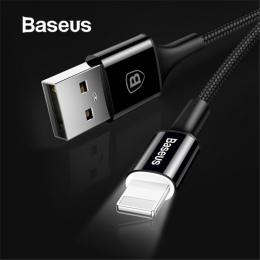 Baseus oświetlenie LED ładowarka dla iPhone X 8 7 kabel USB dla iPhone iPad szybka kabel do ładowania telefonu komórkowego kabel