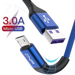 ZNP 1 m 2 m kabel Micro USB szybkie ładowanie dla Xiaomi Redmi Note 5 Pro komórkowego z systemem Android kabel telefoniczny do t