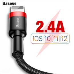 Baseus kabel USB dla iPhone XS Max XR X 8 7 6 6 s Plus 5 5S SE iPad Mini szybkie ładowanie ładowarka przewód danych przewód komó