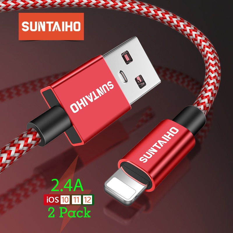 Suntaiho 2.4A kabel USB do ładowarka do iPhone'a Xs Max xr x