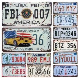Nowy stany zjednoczone samochód metalowa tablica rejestracyjna Vintage Home Decor plakietka emaliowana Bar Pub garaż dekoracyjne