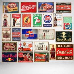 Lodu zimne napoje dekoracji Cola metalowe plakietki emaliowane klasyczne plakat w stylu Vintage płytki nazębnej Pub Bar Club kaw