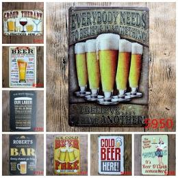 Zimne jak lód darmowe piwo tutaj malarstwo plakat artystyczny antyczne metalowe plakietki emaliowane Bar Pub klub domu dekoracyj
