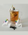 1 sztuk silikonowe kreatywny filtr luźne jednorożec kształt liść ziołowy Spice filtr herbaty torba Food Grade zaparzacz do herba