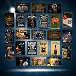 Retro lodu zimne wino piwo tablica whisky metalowe plakietki emaliowane malarstwo plakat w stylu Vintage Wall Art naklejki ścien