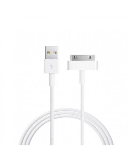 NYFundas ładowarka kabel usb danych dla iphone 4 4s ipoda nano ipad 2 3 iphone 4 s 30 pin 1 m przewód kabel usb do ładowania kab