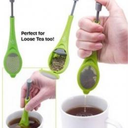 Wielokrotnego użytku zaparzacz do herbaty gadżety do filtrów z tworzywa sztucznego wbudowany tłok zdrowy, intensywny smak herbat