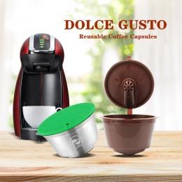 Nowy 3rd generacji Nescafe kapsułka kawy Dolce Gusto filtry kubek wielokrotnego użytku wielokrotnego użytku Dolci Gusto kroplow