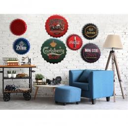 Szklanka do piwa tablicy rejestracyjnej samochodu WIFI Shabby Chic domu Bar Cafe ścienne w stylu Vintage Decor plakietka emaliow