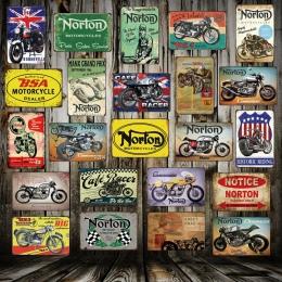 [WellCraft] Norton BSA metalowe tabliczki plakat na ścianie płytki nazębnej silnika malarstwo ścienne antyczne zabytkowe bar Pub
