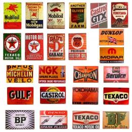 Rocznika garaż wystrój domu Mobil Texaco mistrz oleju napędowego NGK BP, naklejki, wystrój żelaza Retro cyny metalowe tabliczki