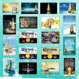Corona dodatkowe piwo plakat metalowe plakietki emaliowane Retro naklejki ścienne na Bar Pub Cafe dekoracji sztuki tablica Vinta