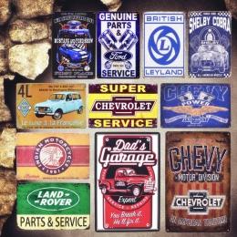 Garaż taty znaki na metalowej blaszce w stylu vintage Leyland płytki dekoracyjne serwis części naklejki ścienne motocykl plakat