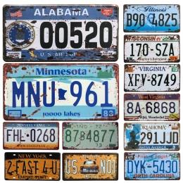 Gorąca stany zjednoczone prawo jazdy metalowa płyta numer samochodu plakietki emaliowane Bar Pub Cafe Decor metalowy znak garażu