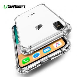 Ugreen przypadku dla iPhone 7 8 Plus przypadku odporne na wstrząsy tylna pokrywa dla iPhone X Xs Max etui na telefon HD jasne oc