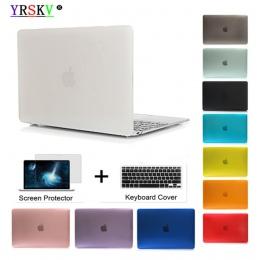 Kryształ \ matowy futerał na Apple Macbook Air Pro Retina 11 12 13 15 cal torba na laptopa, na nową książkę Mac Air Pro 13.3 prz