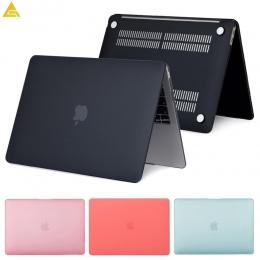 Matowy matowy pełne laptopa etui na Macbooka Air 13 A1932 ID Pro Retina 11 12 15 pokrywa dotykowy Bar 2018 nowy A1706 a1707 A198