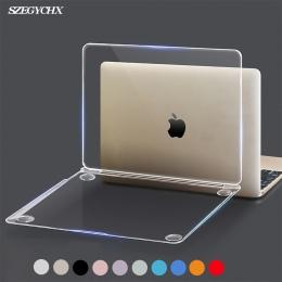 Kryształ laptopa z twardą skorupą etui na Macbooka Pro 13 15.4 Retina 12 13.3 15 nowy dotykowy Bar ID dla Macbook Air 13 a1932 2