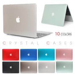 Kryształ przezroczysty pasek dotykowy Case dla Apple Macbook Air Pro Retina 11 12 13 15 torba na laptopa dla komputerów Mac 13.3