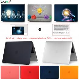 Nowy 2018 torba na laptopa etui na Macbooka Air Pro Retina 11 12 13 15 na Mac Pro 13.3 15.4 cal z dotykowym bar ID + pokrywa kla