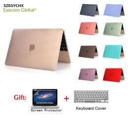 Bardzo ciężko matowe powłoki na laptopa etui na Macbooka Air 11 Retina 12 pokrywa 2018 nowy Pro 13 15 z panelem dotykowym A1706