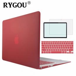Kryształ \ matowy miękki w dotyku twarde etui do Apple Macbook Air Pro Retina 11 12 13 15 torba na laptopa dla nowego MacBook Ai
