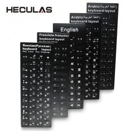 Rosyjski francuski angielski arabski hiszpański portugalski klawiatury naklejki list alfabet układ pokrywa naklejka na laptopa p