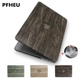 Nowa klasyczna drewna ziarna PU top skórzany dla MacBook Air Pro Retina 11 12 13 15 cal dotykowy Bar + klawiatura pokrywa