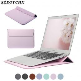 Nowe skórzane rękaw Protector wieszak na worek pokrywa dla Macbook Pro 13 pasek dotykowy Retina 12 13 15 torba na laptopa etui n