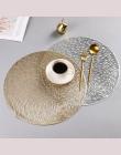Okrągłe pcv podkładka odporne na ciepło, odporne na zużycie antypoślizgowe zmywalny stół mata do dekoracji wakacje