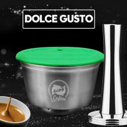 Metalowe ze stali nierdzewnej wielokrotnego użytku Dolce Gusto kapsułki kompatybilny z do kawy dolce gusto wielokrotnego użytku