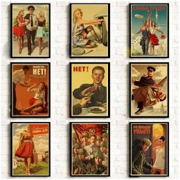 Stalin zsrr CCCP Retro plakat dobrej jakości drukowane ściany Retro plakaty dla domu Bar Cafe naklejka ścienna do pokoju