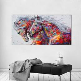 HDARTISAN Wall Art na płótnie zdjęcia konie do salonu zwierząt malarstwo Home Decor bez ramki