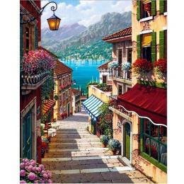 Farby olejne malowanie numbers diy obraz rysunek kolorowanka na płótnie malowanie ręcznie malowanie ścian według numeru krajobra