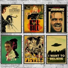 Klasyczny film Fight Club/Pulp Fiction/błyszczące/Kill Bill plakat w stylu Vintage plakat naklejki ścienne do salonu Home dekora