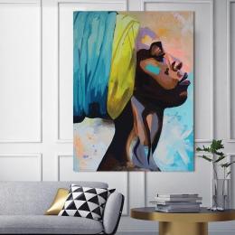 Obraz na płótnie obraz na ścianie obraz obraz na ścianę wystrój domu malarstwo abstrakcyjne zdjęcie kobiety plakat artystyczny i