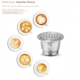 ICafilas stal Metal wielokrotnego użytku wielokrotnego użytku Nespresso kapsułki łyżka z klipsami sabotaż do kapsułki Nespresso