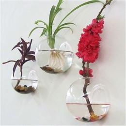 Półokrągłe ściany szklana wisząca wazon hydroponicznych Terrarium ryby zbiornik roślina kwiatowa ozdoba do domu dekoracje ślubne