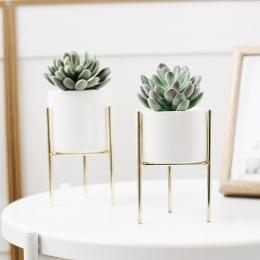 1 zestaw Nordic Style ceramiczne żelaza wazon sztuki minimalizm wazony kwiatowe roślin doniczka dekoracji wnętrz do OfficeRoom k