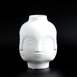 Panie twarz głowa sadzarka wazon wazon dla kwiat ludzki twarz kwiat wazon soczyste doniczki dom ogród ozdoba biały ceramiczny cr