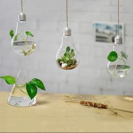 Lampy wiszące szklane wazon hydroponicznych wazony modne dekoracje do domu ozdoby rośliny kwiat strona główna decocr