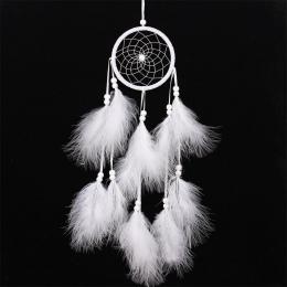 Wiatr kuranty ręcznie indyjski Dream Catcher netto z pióra 55 cm ściany wiszące Dreamcatcher Craft prezent Home Decoration