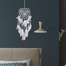 Ręcznie robione koronki Dream Catcher Feather koralik wiszące Ornament dekoracyjny prezent kolorowe Craft Dreamcatcher wiatr kur