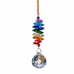 H & D 24 cm kryształy do żyrandola piłka pryzmat wisiorek Rainbow Maker Chakra kaskada Suncatcher