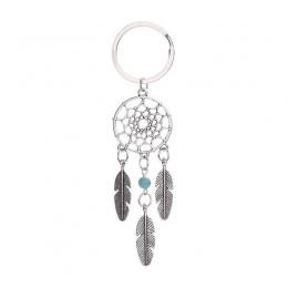 W stylu Vintage Dream Catcher Feather wiatr kuranty w stylu indyjskim brelok biżuteria prezent różowy czarny koraliki Dream Catc