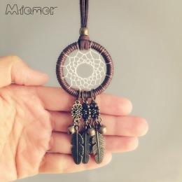 MIAMOR nowa moda w stylu Vintage Mini Dreamcatcher ręcznie Dream Catcher naszyjnik prezent dla dziewczyny Ornament dekoracyjny A