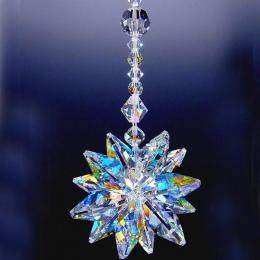 1 sztuk jasne szkło kryształowe Starburst pryzmat Rainbow Maker Chakra wiszące Suncatcher ozdoby okienne